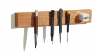 M.O.C. Board Mahogany Wood Magnetic Knife Holder